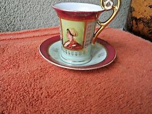 Antique Royal Vienna Cup And Saucer