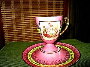 Antique Kpm Royal Vienna Cup And Saucer
