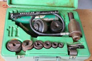 Greenlee 7310 Knockout Punch And Hydraulic Driver Set For 1 2 To 3
