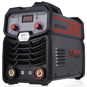Sf 200a 200 Amp Stick Arc Dc Inverter Welder 120v 240v Dual Voltage Welding