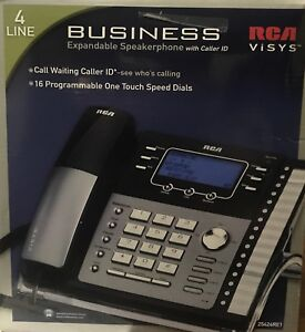 Rca Visys 25423re1 a 4 line Expandable Business Office Phone Business Black