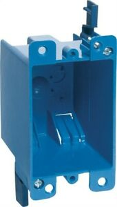 Carlon 4 1 8 In Rectangle Pvc Outlet Box Blue