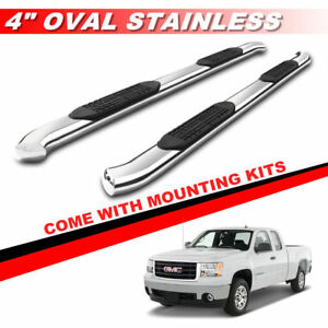 4 S s Curved Nerf Bar Running Boards For 1999 2013 Chevy Silverado Extended Cab