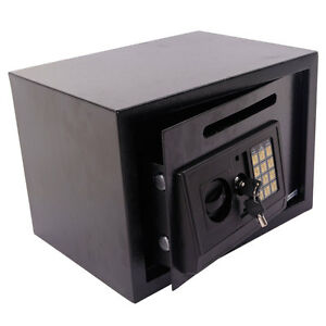 Small Digital Safe Box Gun Cash Safe Pistol Safety Home Security Locking Boxes