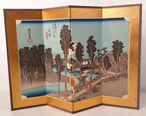 Original Ando Hiroshige Numazu 13 Woodblock Print Screen