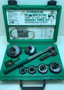 Greenlee 7238sb Slug Buster 1 2 2 Knockout Punch Kit W wrench Driver