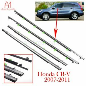 4x Car Window Moulding Trim Weatherstrips Seal For Honda Crv 2007 2008 2009 2010