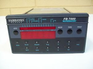 Fairbanks Scale Fb7000 Controller W Waversaver Used Free Shipping