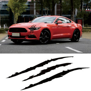 Car Sticker Reflective Monster Scratch Stripe Claw Marks Auto Headlight Decal Us