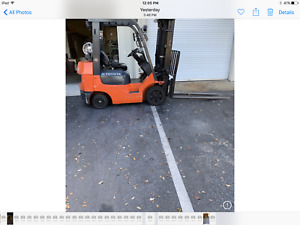 2007 Toyota 4500 Lb Lpg Pneumatic Forklift Air Tires 9500 Hrs Model 7fgcu25