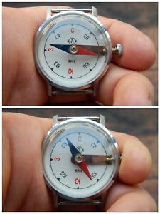 New Wrist Watch Compass Analog Vostok Wostok Ussr Russian Kh 1 Kn 1 Military