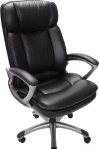Serta 43675 Faux Leather Big Tall Executive Chair Black