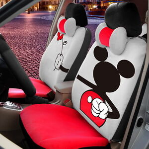 18 Piece Red Mickey Mouse Valentine Car Seat Covers