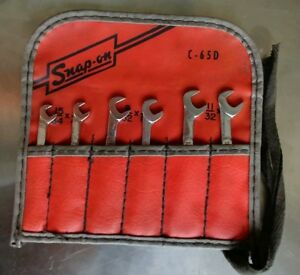 Vintage Snap On Tools 6 Pc Angle Head Ignition Wrench Set Ds806k Ships Free