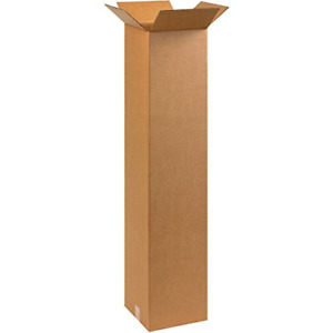 Ship Now Supply Sn101048 Tall Corrugated Boxes 10 l X 10 w X 48 h Kraft Pack