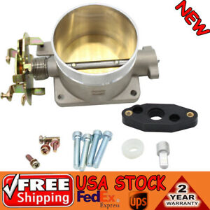 Polished Throttle Body 75mm Direct Fits For 96 04 Ford Mustang Gt 4 6l Sohc Usa