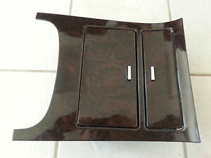 11 Cadillac Escalade Center Console Woodgrain Trim Cup Holders