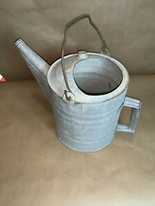 Antique Vintage Galvanized Watering Can Heavy Duty Without Spout