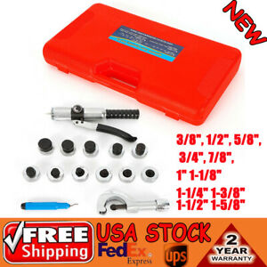 Hydraulic 11 Lever Tubing Expander Swaging Punches Tools Hvac Tube Piping Pipe