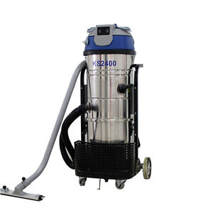 Ston New 110v 2400w 100l Vac Industrial Vacuum Cleaner Wet Dry Dual Motor Blower