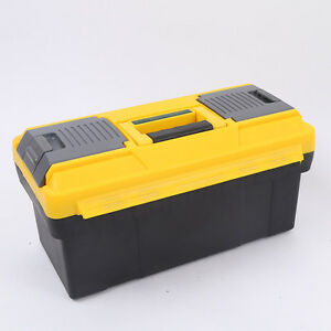 Ston 17 Portable Plastic Tool Box Lockable Garage Large Parts Storage Organizer