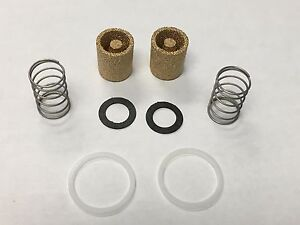 2 Holley Double Pumper Carburetor Sintered Bronze Fuel Filter Kit Seal Spring