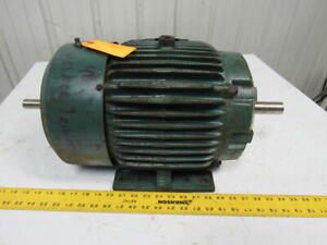 Reliance 10hp Double Shaft Electric Motor 230 460v 215tz Frame 1750 Rpm