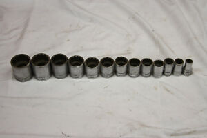 Snap on 1 2 Dr Sae 12pt 13 Pc Socket Set cr