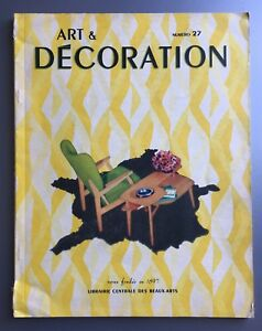 1952 Art Decoration No 27 Magazine France Mid Century Modern Perzel