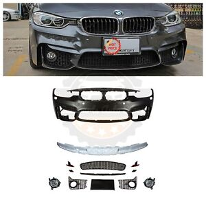 2012 18 F80 M3 Style Front Bumper W Fogs For Bmw F30 F31 3 Series 4d 5d W Pdc