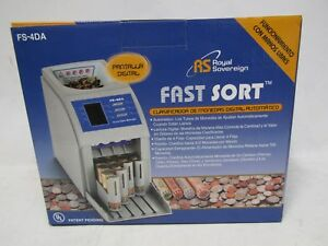 Royal Sovereign Fast Sort Digital Coin Sorter Fs 4da In Box