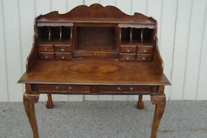 59387 Mahogany Chippendale Desk With Chair
