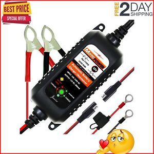 Automatic Battery Charger Maintainer Tender Auto Trickle Charging 12 Volts 800ma