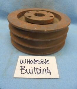 Browning 3 groove V belt Sheave Pulley 3tb58 6 15 Od 2 1 2 Face P1 1 1 8
