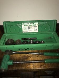 Greenlee 1806 Ratcheting Knockout Punch Kit 1 2 Thru 2