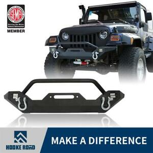 Hooke Road Black Front Rear Bumper W Led Lights Fit Jeep Wrangler Tj 97 06