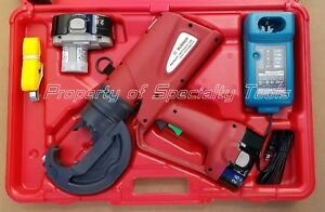 Burndy Pat750xt Hydraulic Battery Rubber Covered Crimper 12 Ton Crimping Tool
