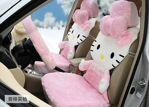 Full Cover Lace 3d Pink Hello Kitty Car Seat Covers