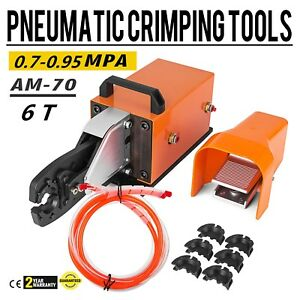 Am 70 Pneumatic Crimping Machine 6t Crimping Tool 6 70mm2 Cable Lugs Cable