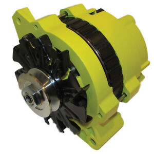 New 220 Amp High Output Yellow Alternator For Gm Chevrolet 65 85 1 Wire One Wire
