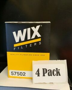 Engine Oil Filter Wix 57502 Pack Of 4 Filters