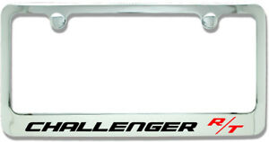 Dodge Challenger Rt Chrome Plated Metal License Plate Frame Holder