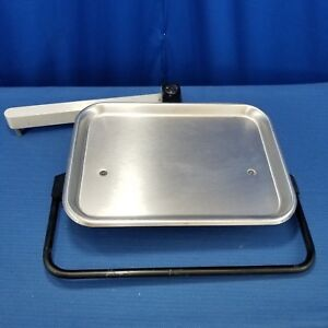 Dental Stainless Steel Utility Accessory Tray With Instrument Holder Bar