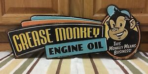 Grease Monkey Hot Rod Garage Metal Gas Pump Coupe Rat Rod Oil Can Ford Chevy