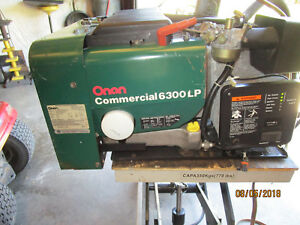 Onan Commercial 6300 Lp Generator And Automatic Transfer Switch