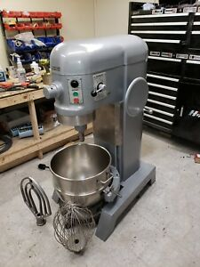 Hobart 60 Qt H600 Mixer Stainless Bowl Paddle Whip And Bowl Dolly