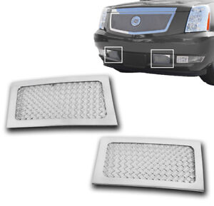2007 2013 Cadillac Escalade Esv Ext Chrome Lower Bumper Mesh Grille Grill Insert