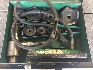 Greenlee 7310sb Hydraulic Knockout Punch Set W Case
