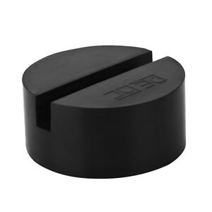 1x Slotted Rail Floor Jack Disk Rubber Pad Adapter For Pinch Weld Side Jackpad