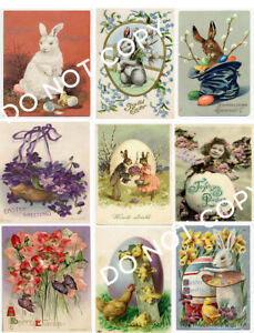 Vintage Easter Postcard Collage Sheet A14